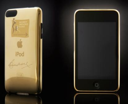 Ipod Touch Gold. Bobby Moore Gold Plated iPod